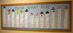 Name Snowmen Preschool Craft math count