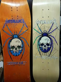OG Zorlac Metallica Spider and new Lovenskate Metallica Spider. Great to see these together to compare/contrast.