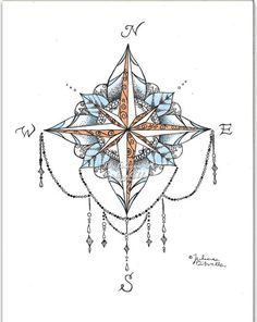 Compass Mandala Print ***** Please message me for any questions!*** • Prints on beautiful glossy paper • Prints DO NOT come framed unless you