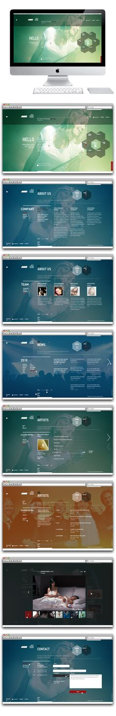 ANR by Sergei Gurov, via Behance - How transparencies will be the next trend in web design (iOS 7?)