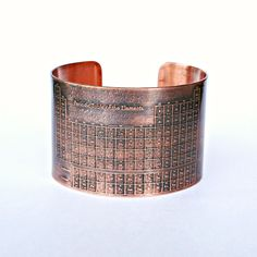 copper cuff bracelet ($35)