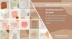 ❤️ SOCIAL MEDIA CONTENT ❤️ 🗯️🍏 Healing Quotes Bundle 🗯️🍏- To help your social media followers recover from life's struggles, we've put together this bundle of beautifully inspiring, comforting, and uplifting healing quotes. Share this bundle of healing quotes to help others recover from lifes challenges. They will give your followers who may be going through tough times the strength they need to get through any struggle. #HealingQuotes #Quotes #MoticationalQuotes Social Media Images, Social Media Content, Social Media Marketing, Brain Dump, Life Challenges, Healing Quotes, Tough Times, Helping Others, How To Get