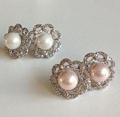Bridal Pearl Wedding Jewelry Swarovski by AsiancosmosJewellery