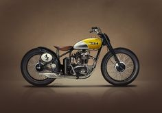 proto Ducati in frame of BSA by DiabloBros Cafe Racer Moto, Triumph Cafe Racer, Triumph Bobber, Bobber Bikes, Cool Motorcycles, Flat Track Motorcycle, Tracker Motorcycle, Bobber Motorcycle, Honda Scrambler