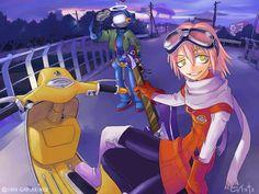FLCL Furi Kuri, Hero Machine, Hideaki Anno, Little Busters, Canti, Face Reference, Otaku, Sci Fi, Animation