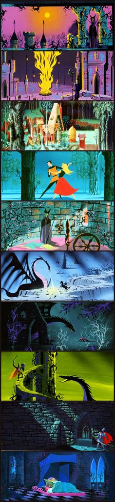 Sleeping Beauty concept. All the colors of the rainbow!