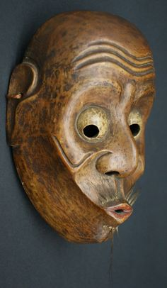 Very Fine and Rare Edo Period Usobuki Kyogen Mask