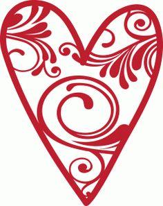 Silhouette Design Store - View Design #54418: swirl heart