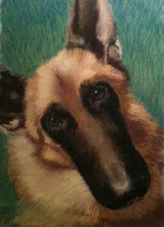 Items similar to Custom Pet Portrait, Pastel original painting of your pet, German Shepard dog, gift, keepsake memory on Etsy Pastel Portraits, Pet Portraits, Original Paintings, Pets, Animals, Vintage, Animales, Animaux, Animal