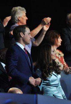 Kate Middleton Photos - Prince William, Duke of Cambridge and Catherine, Duchess of Cambridge during the Opening Ceremony of the London 2012 Olympic Games at the Olympic Stadium on July 2012 in London, England. Paralympic Athletes, Olympics Opening Ceremony, Kate Middleton Photos, Duke Of Cambridge, Olympians, Olympic Games, Prince William, Newlyweds, Couple Photos
