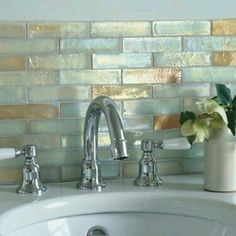 bathroom tiles iridescent glass mosaic sandstone fusion hand finished i love the shimmer in these tiles