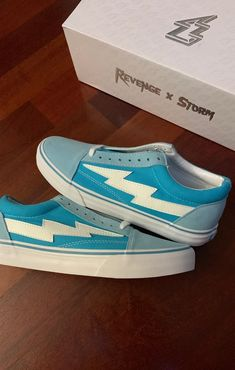 revenge x storm bolt blue Girls Sneakers, Sneakers Fashion, Shoes Sneakers, Crazy Shoes, Me Too Shoes, Teen Girl Shoes, Steampunk Boots, Expensive Shoes, Aesthetic Shoes