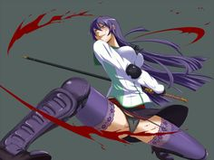 Busujima Saeko - highschool-of-the-dead Wallpaper