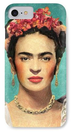 Frida Kahlo IPhone 7 Case featuring the painting Frida Kahlo by Taylan Apukovska