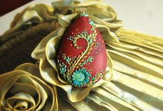 in the golden light - playful deco pendant by jennifermorris, via Flickr