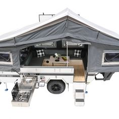 With advanced design and quality build, Black Series' camper trailers can take you on a grand adventure. Off Road Camper Trailer, Camping Trailers, Overland Trailer, Tiny Trailers, Jerry Can, Camper Conversion, Jeep Gladiator, Black Series, Caravan
