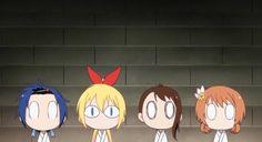 Tsugumi, Chitoge, Onodera, & Marika | Nisekoi