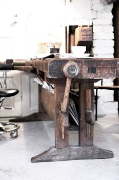Industrial table for studio