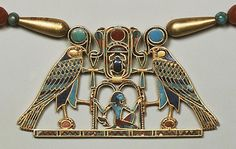 Pectoral of Princess Sit-Hathor-yunet (detail), Middle Kingdom, Dynasty 12, ca. 1887–1813 B.C. Egyptian. This pectoral is a superb example of the technical skill and artistry of Middle Kingdom jewelers. It was made using the cloisonné technique in which 372 carefully cut pieces of semiprecious stone were set into metal cells. The pectoral's owner was Princess Sit- Hathor- yunet, who seems to have lived from the reign of Senwosret II into that of Amenemhat III of Dynasty 12.