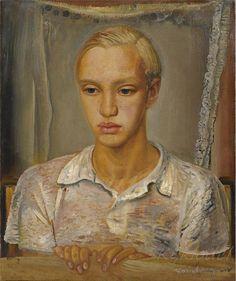 Self-portrait, Boris Dmitrievich Grigoriev ( 11 July Rybinsk – 7 February Cagnes-sur-Mer), Russian painter, graphic . Russian Painting, Russian Art, Russian Avant Garde, Digital Museum, Collaborative Art, Portrait Art, Male Portraits, Art World, Impressionist