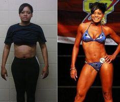 Female winner of the Body by Vi 90 Day Challenge...90 days and look at her!