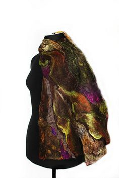 Felted Textured Scarf   Flickr - Photo Sharing!