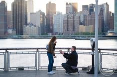 Sneak Peek | Sergej + Victoria | Wedding Proposal in New York City, surprise Engagements » NYC based photographer, Sascha Reinking Photography, color photos, LIC Piers
