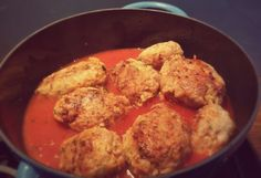 Cabbage, rice & meat balls in a creamy tomato & herbs sauce