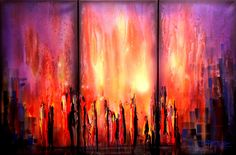Contemporary Modern Abstract Art | Original Abstract Contemporary Art Painting by Theo Dapore