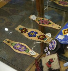 Athabascan beadwork by Brenda Mahan for sale at the Autry Museum  gift shop 11/2015
