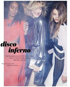 """Disco Inferno"" by James Nelson for ELLE Australia December 2015"