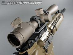LWRC M6A2 5.56mm, FDE finish, and Leupold Mk4 LR/T 3.5-10x40 scope w/ TMR reticle.