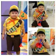 Pixar Up Russel Cosplay Clever Costumes, Up Costumes, Cool Halloween Costumes, Costume Ideas, Halloween 2014, Disney Costumes, Family Halloween, Halloween Ideas, Disfraz Up