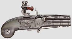 rare flintlock knife pistol,Belgian 1790
