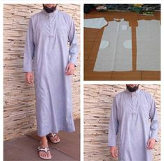 Mens moslem shirt long pattern Order by click our link/ line : modelliste