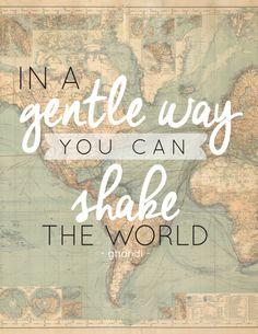 Free Printable - Shake the world