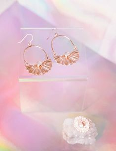 Moonstone Basket Earrings - Rose Gold Vermeil | Annachich Jewelry