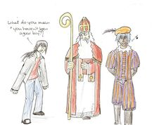 Drawing, Sinterklaas by failyor
