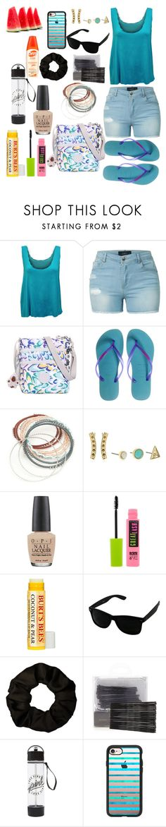 """""""summer essentials 🌞"""" by skylovessave ❤ liked on Polyvore featuring WearAll, LE3NO, Kipling, Havaianas, Red Camel, Rebecca Minkoff, OPI, Maybelline, Forever 21 and Casetify"""
