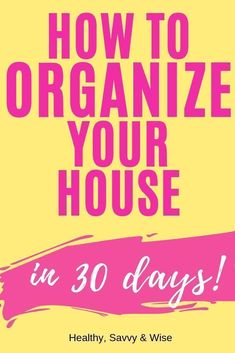 your house in just 30 days with this EASY STRATEGY! This decluttering and organizing routine will have you clean your whole home in 30 days!This decluttering and organizing routine will have you clean your whole home in 30 days! Dyi Organization, Organizing Tips, Cleaning Hacks, Cleaning Schedules, Job Interview Questions, Child Loss, Flylady, Declutter Your Home, Time Management Tips