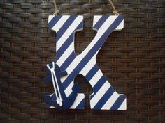 Wooden Letters Nautical Nursery Decor Wall by LaurenAnnaLei