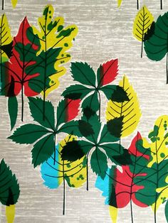 Mid Century Mod Giant Falling Leaf Motif Barkcloth Fabric// Eames Era Chic// Cotton Yardage// New Old Stock// By the Yard 15 Yards Available by KimberlyZ on Etsy Retro Fabric, Vintage Fabrics, Tree Patterns, Shape Patterns, Leaf Skeleton, Mid Century Modern Fabric, Cover Up Tattoos, Cottage Chic, Modern Cottage