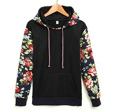 Loose Hoodie Sweatshirts For Women Hooded Pullover Long Sleeve Tops L Black * You can find out more details at the link of the image. (This is an affiliate link) Hoodie Sweatshirts, Sweatshirts Vintage, Hoody, Tee Shirts, Sweat Shirt, Manga Floral, Retro Mode, Sports Hoodies, Hooded Sweater