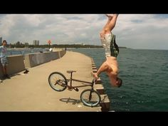 BMX Rider Tim Knoll Performs Some Impressive Parkour Stunts From His Bike