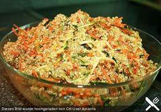Quinoa salad with carrot and zucchini, a popular recipe from the Sch . - Quinoa salad with carrot and zucchini, a popular recipe from the category quick and easy. Quinoa Zucchini, Quinoa Salad, Mexican Food Recipes, Seafood Recipes, Vegan Recipes, Ethnic Recipes, Seafood Salad, Sloppy Joe, Cauliflower Recipes