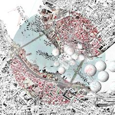 Airport IV: The city as convenient store / YuFei Li, AA 2014 Architecture Mapping, Architecture Drawings, Architecture Diagrams, Urban Mapping, City Grid, Landscape And Urbanism, Urban Analysis, Plan Drawing, Concept Diagram