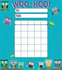 #Owl Turquoise Quatrefoil Incentive Pad by Renewing Minds  Go out on a limb this #school year with owl-themed #classroom decorations and organizational supplies. Choose from our collection of borders, notepads, charts, cutouts, awards, and a lot more! #Teaching has never been such a hoot!