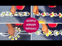 Easy & Simple Border # Friday kolam#Mungitlo Muggulu - YouTube Rangoli Borders, Rangoli Border Designs, Small Rangoli Design, Rangoli Designs With Dots, Kolam Rangoli, Beautiful Rangoli Designs, Indian Rangoli, Peacock Rangoli, Flower Rangoli
