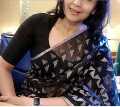 Cotton Saree Blouse Designs, Fancy Blouse Designs, Saree Trends, Designer Blouse Patterns, Stylish Sarees, Saree Styles, Chiffon Saree, Silk Sarees, Boy Dress