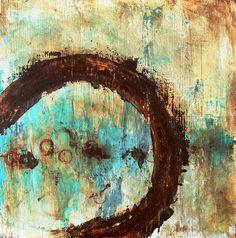 "Home At Last - 24"" x 24"" Acrylic on reclaimed wood panel - Denton Loomis"